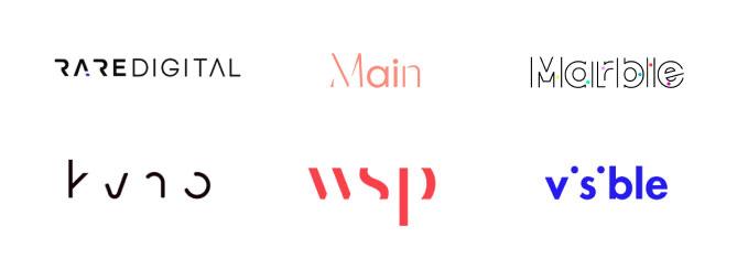 distruzione del testo nel logo design
